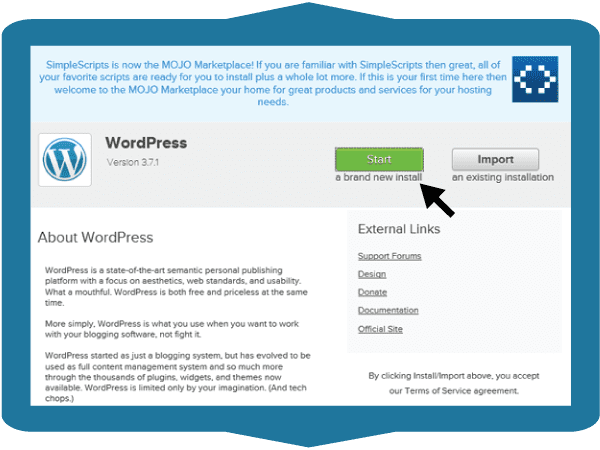 cPanel WordPress Install