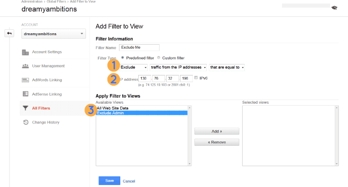how to set up a filter in Google analytics