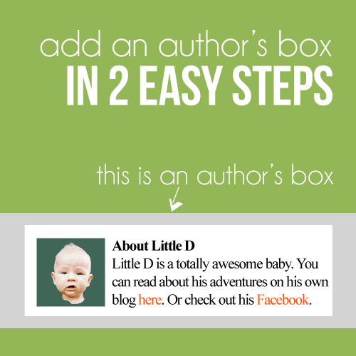 Add an author box to your blog posts