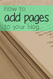 How to add pages to your blog in WordPress