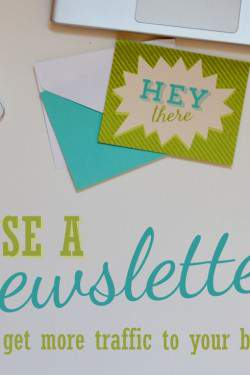 Use a newsletter to get more traffic to your blog!