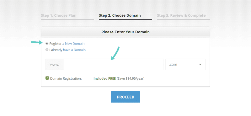 Get a free domain name for your new blog.