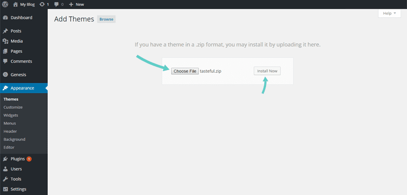 How to add a permium theme to WordPress blog