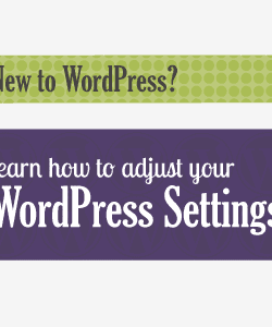 Adjust your WordPress settings.