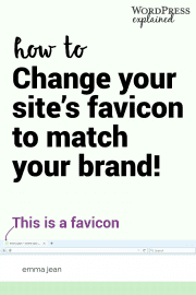 Alright bloggers and online business friends, brand your website with a site icon (aka favicon). Creating a favicon for your blog is the easiest way to brand your blog.
