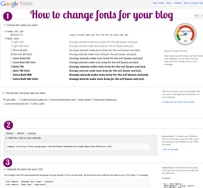 change-blog-fonts-using-google-fonts