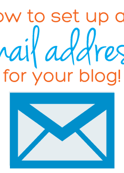How to set up an email address for your blog URL