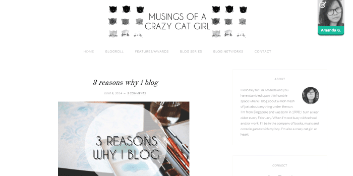 Musings of a Crazy Cat Girl Blog