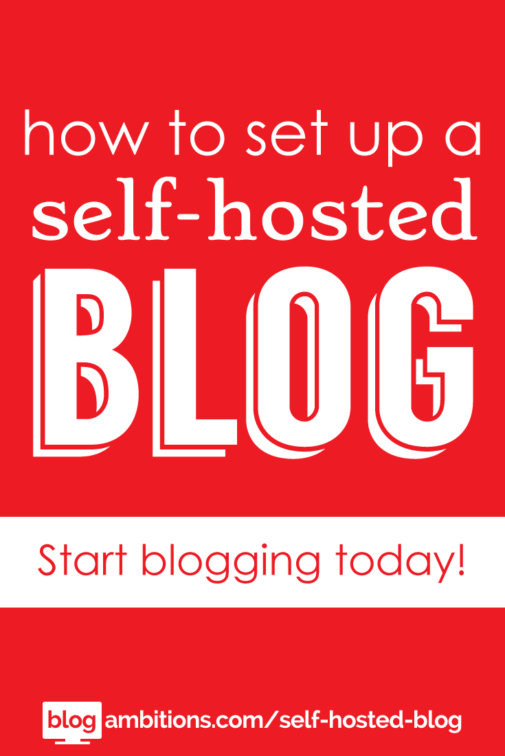 How to set up a self-hosted blog.