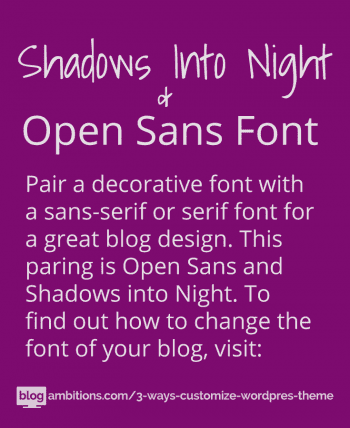 How to change blog font using google fonts