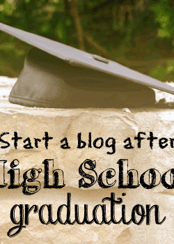 Start a blog after High School graduation and blog your way through college.