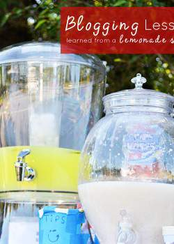 Blogging lessons learned from a lemonade stand.