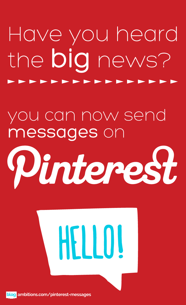 Big news: pinterest messages