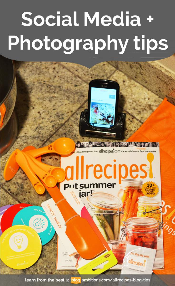 Social Media and Photography Tips from Allrecipes