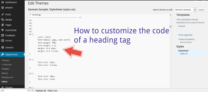 How to customize your heading tags