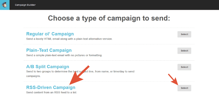 Create an RSS campaign