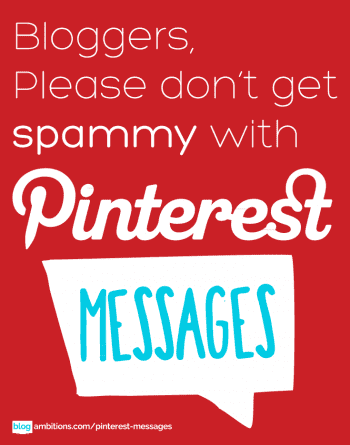 Don't spam pinterest messages
