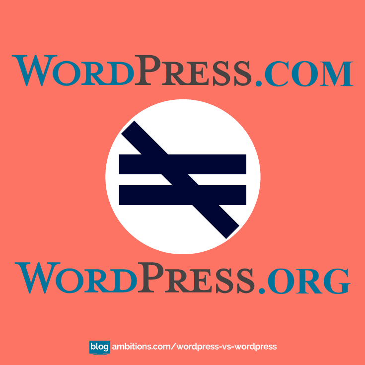 Wordpress.org and wordpress.com are not the same thing