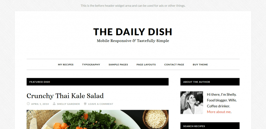 The Daily Dish Theme