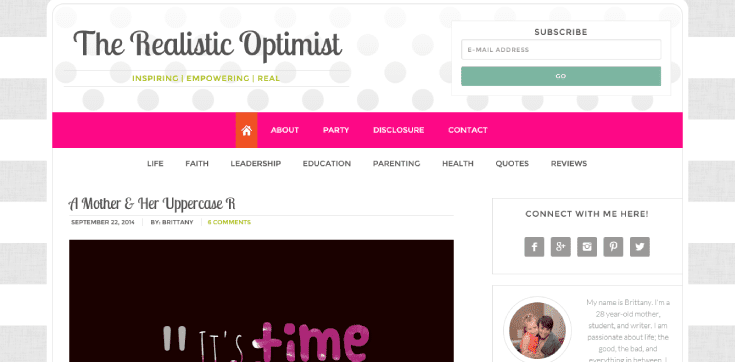 Realistic Optimistic Blog