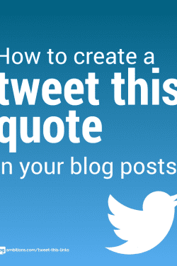"How to add ""tweet this"" links in your blog posts."