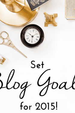 2015 Blog Goal Printable Sheet