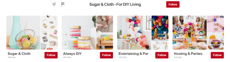 Pinterest board covers on your profile page