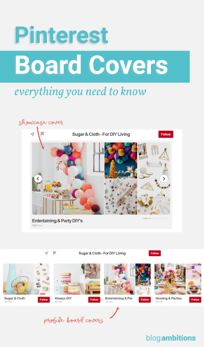 Get the latest information on Pinterest board covers.