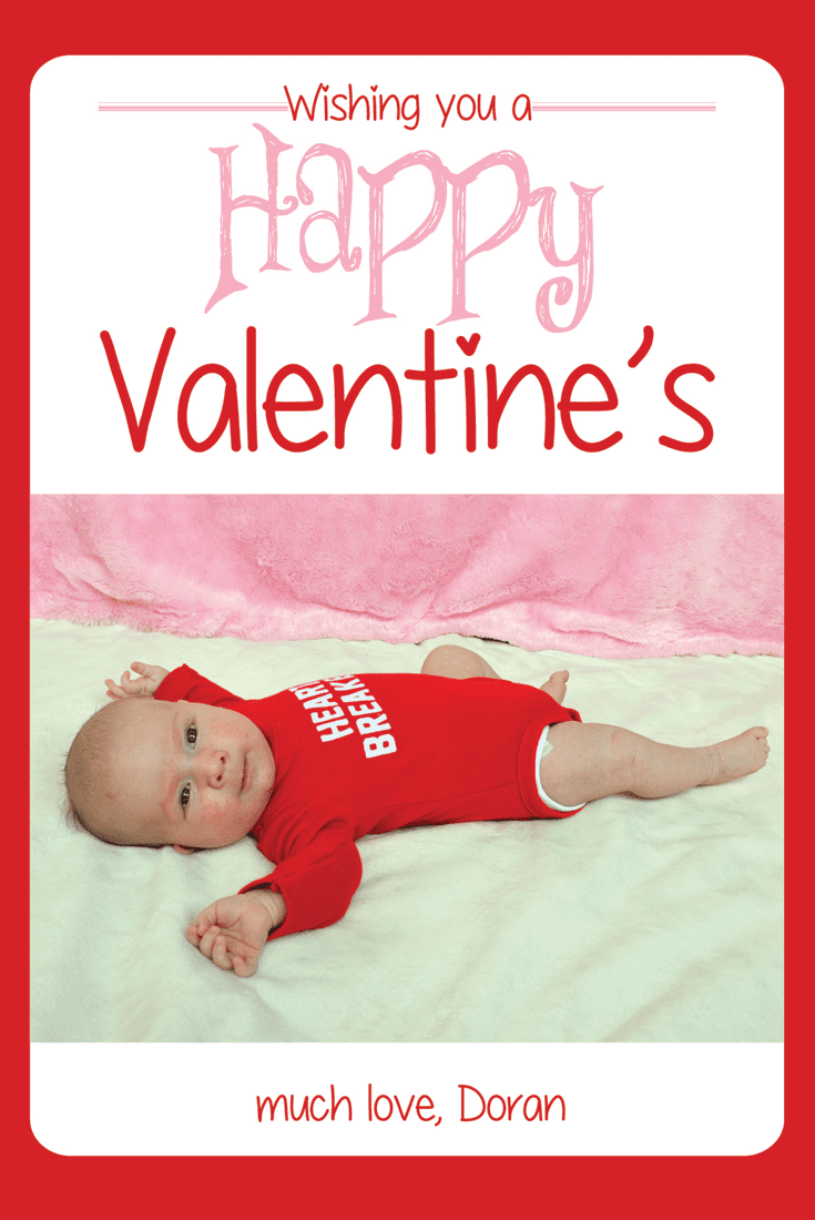 Baby Valentine's Day Card