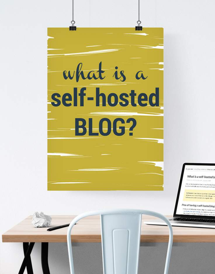 What is a self-hosted blog?