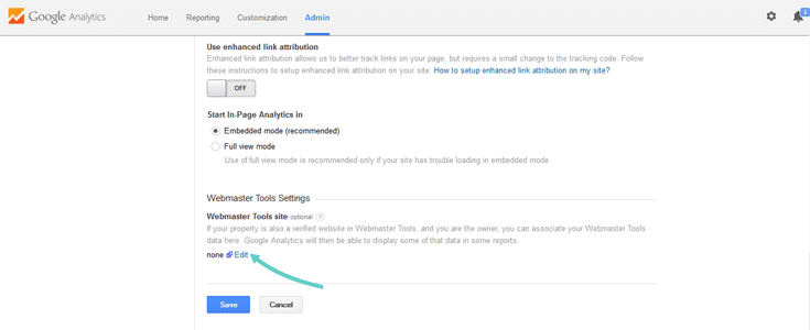 Connect your Wembaster Tools account to Google Analytics to see search keywords.