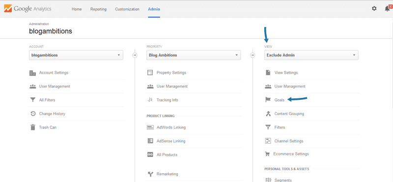 How to create a Google Analytics goal to track your newsletter subscribers.