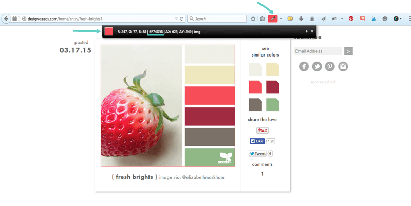 Use color picker tool to see what a color is.