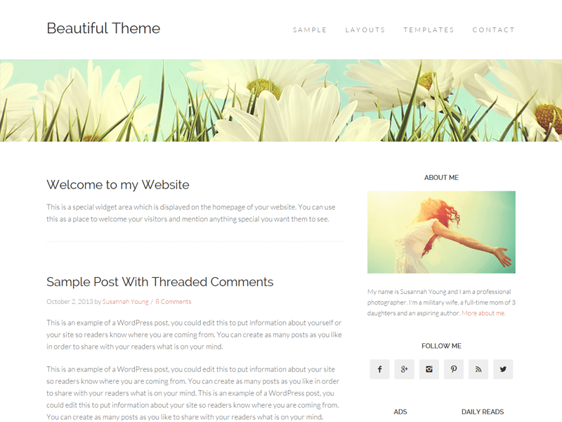 Beautiful Pro theme - best Genesis child theme for bloggers