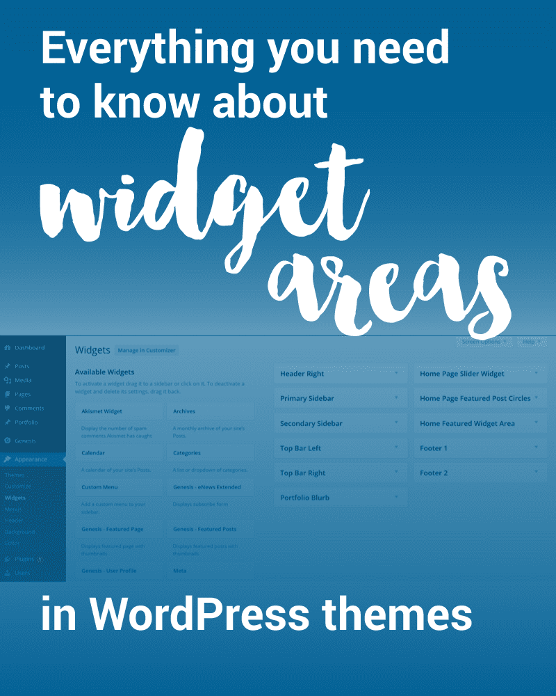 Everything you need to know about WordPress widget areas