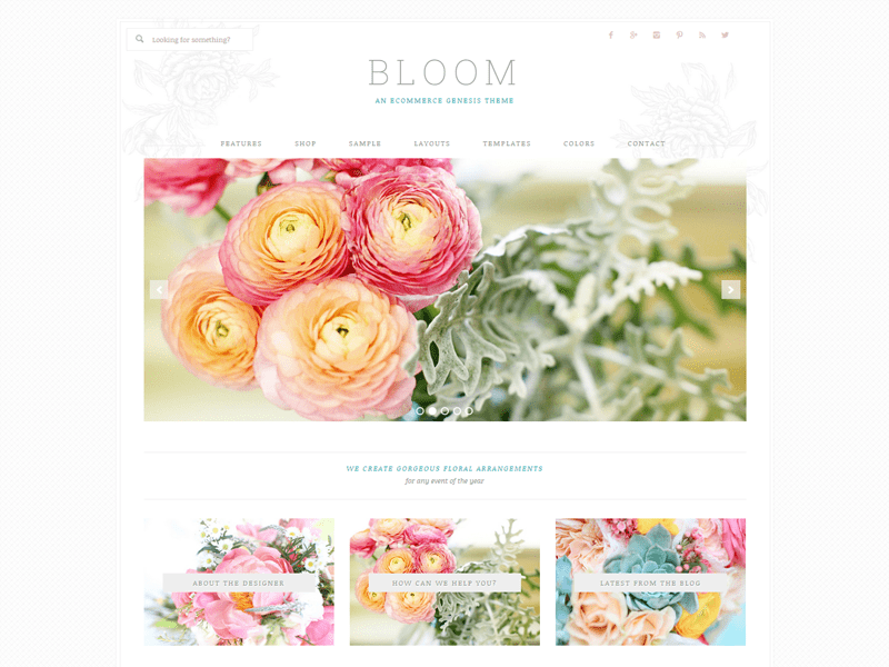 Bloom Theme - best Genesis child theme for bloggers