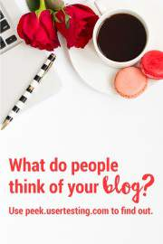 Get a free video of someone visitng your blog to see what readers think of yoru site.