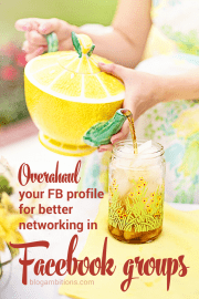 Do you use Facebook groups for blog networking? Don't let all your hard work networking on Facebook groups go to waste. Make sure your profile makes it easy for people to find your blog.