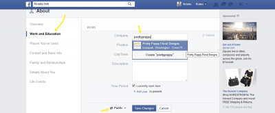 Add your business facebook page to your personal profile.