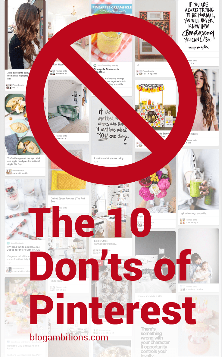 10 things not to do on Pinterest