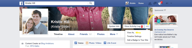 What does your public facebook profile look like?  Make sure you link your blog!