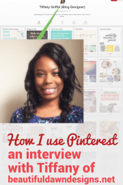 With just over 1000 followers, Tiffany has pins that bring her traffic resulting in continuous newsletter subscribers and thousands of dollars in sales! Tiffany shares her Pinterest strategies for her blog.