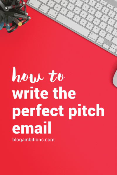 Have an idea you want to pitch to a company or bigger blogger than you? Here are tips for writing the perfect pitch email.