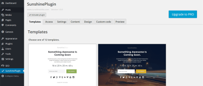 How to set up a coming soon landing page on your blog.