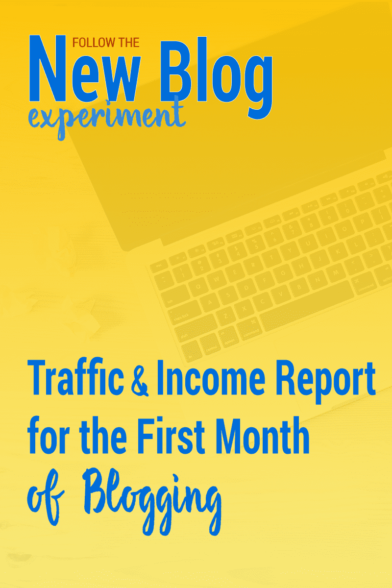 Curious what the first month of blogging looks like? Check out this traffic and Income report for the New Blog.