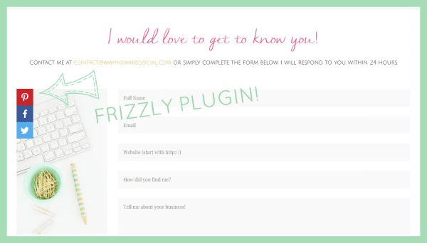Example of the Frizzly Plugin