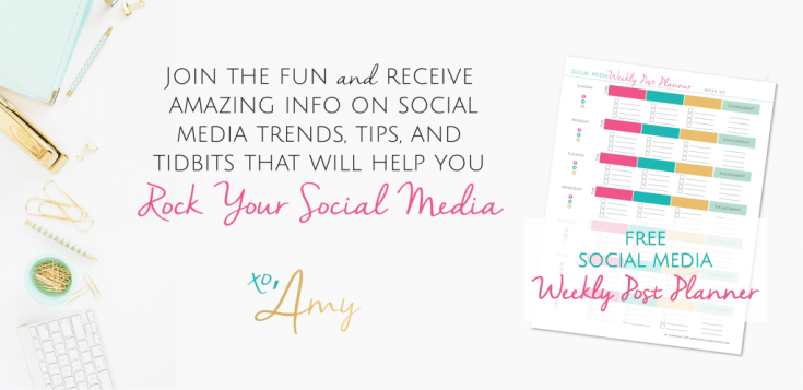 Get your free social media calendar from Amy