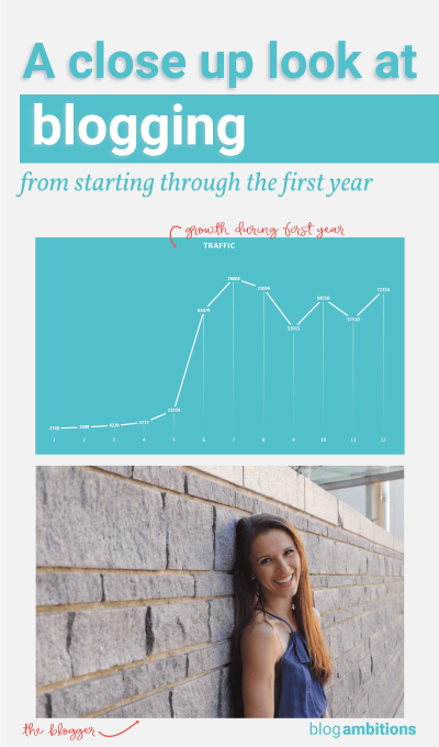 A close up look at what blogging during the first year looks like.