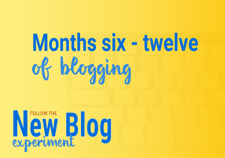 Blogging during the first year. New Blog Experiment