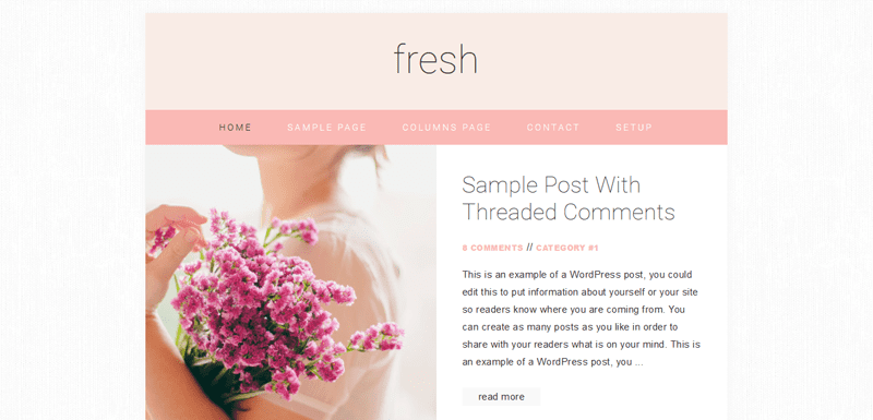 Check out this free child theme: fresh by Restored 316